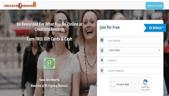 Fare soldi online tramite CreationsRewards