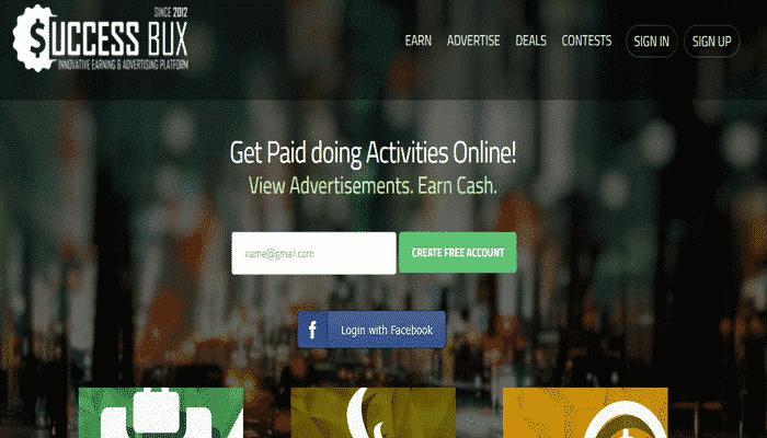 guadagna con attività online SuccessBux