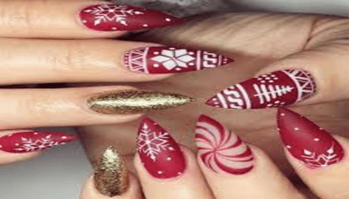 unghie natalizie semplici